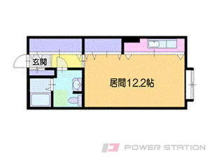 小樽市銭函1丁目0賃貸アパート間取図面