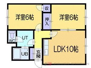 小樽市銭函1丁目1賃貸アパート間取図面