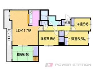 小樽築港4LDKマンション図面