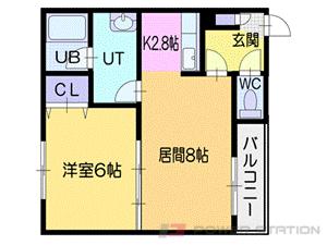小樽市色内1丁目0賃貸マンション間取図面