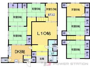 南小樽6SLDK一戸建貸家図面