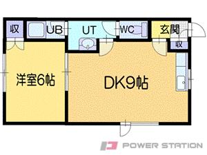 小樽市赤岩1丁目0賃貸アパート間取図面