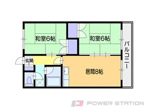 小樽2DKマンション図面