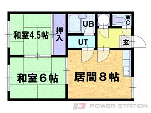 小樽市稲穂5丁目1賃貸アパート間取図面