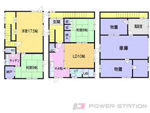 小樽市祝津3丁目0一戸建貸家間取図面