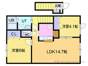 小樽市朝里2丁目0賃貸アパート間取図面