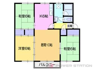 小樽市オタモイ3丁目0賃貸マンション間取図面