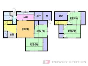 小樽市天神2丁目1一戸建貸家間取図面