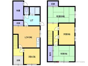 小樽市末広町1テラスハウス間取図面