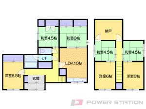 小樽市桜5丁目1一戸建貸家間取図面