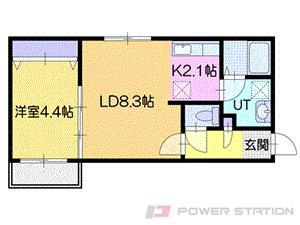 アヴェニール:1号室タイプ【1LDK】