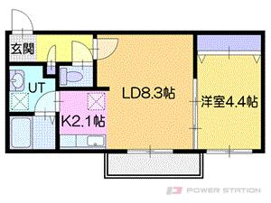 アヴェニール:3号室タイプ【1LDK】