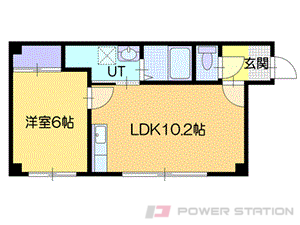 小樽市奥沢3丁目1賃貸アパート間取図面