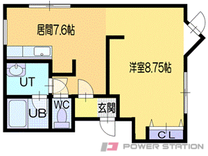 小樽市梅ヶ枝町0賃貸アパート間取図面