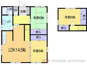 小樽市梅ヶ枝町0一戸建貸家間取図面