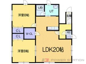 小樽市幸2丁目0賃貸アパート間取図面