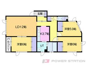 小樽市新光3丁目0賃貸アパート間取図面