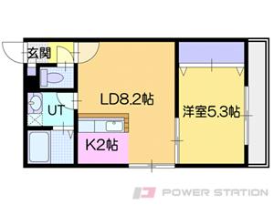 小樽市稲穂3丁目0賃貸マンション間取図面