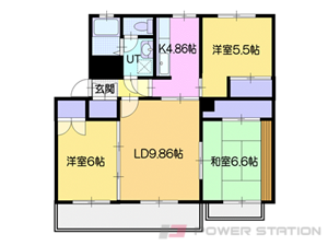 小樽市奥沢4丁目1賃貸マンション間取図面