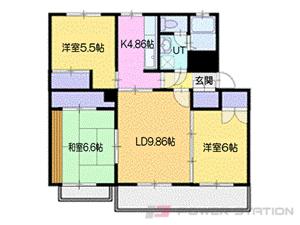 南小樽3LDKマンション図面