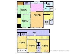 小樽市高島4丁目1一戸建貸家間取図面