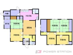 小樽市赤岩1丁目1一戸建貸家間取図面