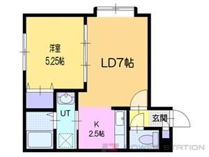小樽市若松1丁目0賃貸アパート間取図面