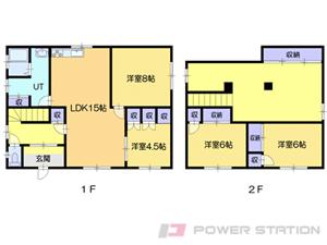 小樽市赤岩2丁目1一戸建貸家間取図面