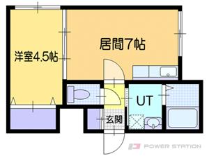 小樽市稲穂2丁目0賃貸マンション間取図面