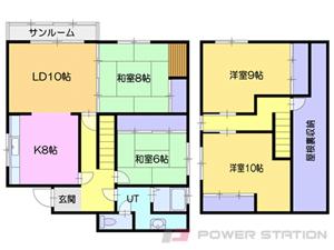 小樽市幸2丁目1一戸建貸家間取図面