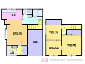 小樽市緑1丁目0一戸建貸家間取図面