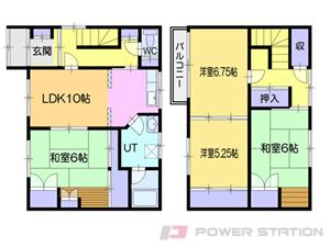 小樽市緑2丁目0一戸建貸家間取図面