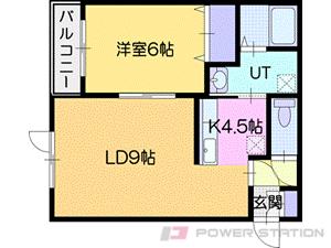 小樽市富岡1丁目0賃貸アパート間取図面