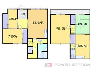 小樽市最上1丁目1一戸建貸家間取図面