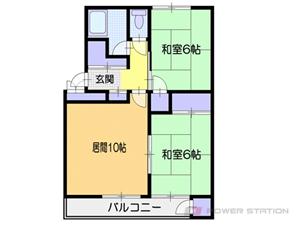 小樽市奥沢1丁目1賃貸マンション間取図面