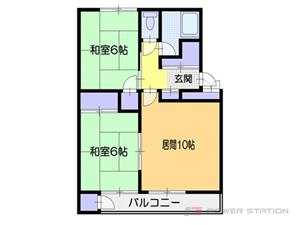 南小樽2LDKマンション図面