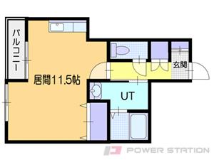 小樽市稲穂4丁目0賃貸アパート間取図面