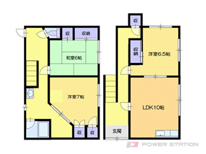 小樽市末広町1一戸建貸家間取図面