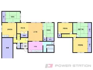小樽市最上2丁目1一戸建貸家間取図面