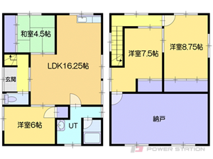 小樽市長橋5丁目0一戸建貸家間取図面
