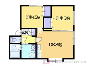 小樽市緑2丁目1賃貸アパート間取図面