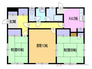 小樽市最上2丁目0賃貸アパート間取図面