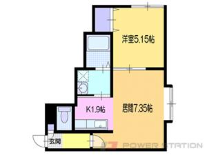 小樽市色内2丁目0賃貸アパート間取図面