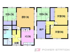 小樽市真栄2丁目0一戸建貸家間取図面