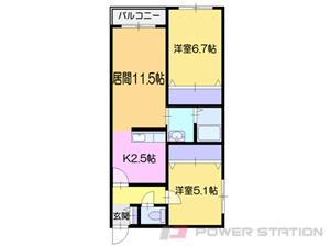 小樽市勝納町0賃貸マンション間取図面