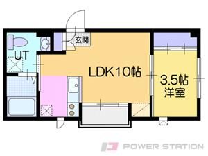 小樽市緑2丁目01賃貸アパート間取図面
