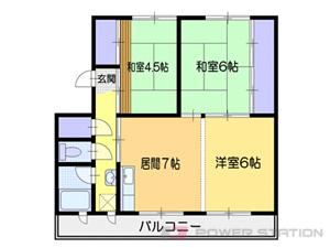 小樽市勝納町0賃貸アパート間取図面
