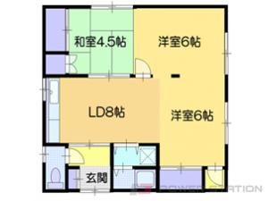 小樽市稲穂4丁目0一戸建貸家間取図面