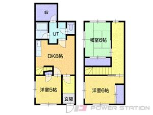 小樽市色内2丁目0一戸建貸家間取図面
