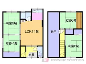 小樽4LDKアパート図面